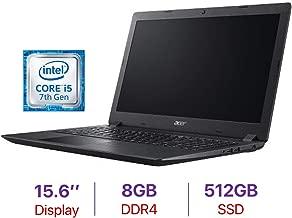 Acer Aspire 3 15.6-inch HD Laptop PC, Intel Core i5-7200U Processor 2.5GHz, 8GB DDR4 RAM, 512GB SSD, Bluetooth 4.1, HDMI, Webcam, Stereo Speakers, WiFi, Intel HD Graphics 620, Windows 10