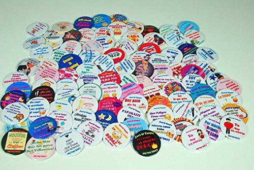Chapeart Chapas Personalizadas 59mm (Bodas, Despedidas de solter@, Eventos, asociaciones y demás) (50 und)