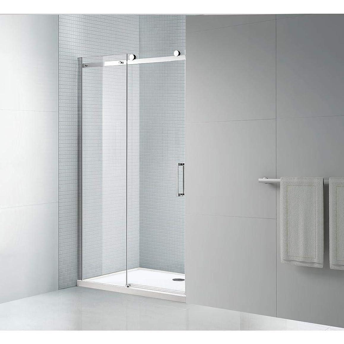 Tidy 78 in. Frameless Sliding Shower Door with 8 mm (5/16