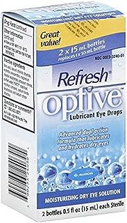REFRESH OPTIVE Lubricant Bottles Eye Drops (2 x 15 ml)