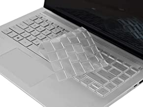 Clear HP Pavilion x360 14 Inch Keyboard Cover for 2019 2018 Laptop 14t 14-CD 14M-BA 14M-CD 14-BF 14-BW 14-cm 14-CF Series/2019 New HP Sream 14-ds Serires 14-ds0050nr 14-ds0060nr