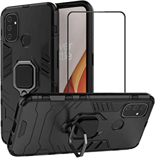 2ndSpring Case for OnePlus NORD N100 with Tempered Glass Screen Protector,Hybrid Heavy Duty Protection Shockproof Defender...