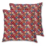 NUXIANY Juego 2 Fundas Cojines Hogar Estampado Natural Ondulado Oriental marroquí Decorativa Almohadas Fundas de para Sala de Estar sofás 65x65cm