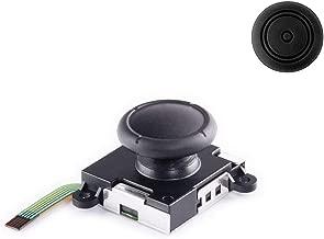 4inLoveMe 3D Replacement Joystick Set Analog Thumb Stick for Nintendo Switch Accessories Joy-Con Controller Include 1 Piece Joystick (Black) + 1 Thumbstick Cap (Black)