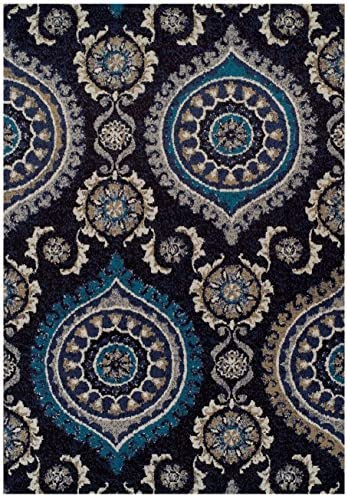 Large 8x11 Black Modern Rugs For Living Room Blue Gray Navy Beige Ivory Area Rug 8x10 Clearance Under 100 Dining Room Size Rugs Clearance Furniture Decor