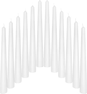 SONEDLY 12 inch Taper Candle 12 Pack - Unscented Hand-Dipped Tapered Candles Long Burning Perfect for Home Interior - Drip...