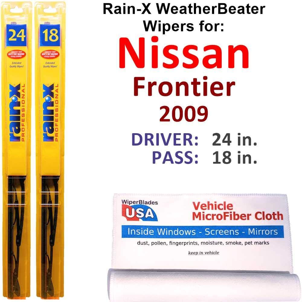Direct stock discount Rain-X WeatherBeater Max 72% OFF Wiper Blades for 2009 Nissan R Set Frontier