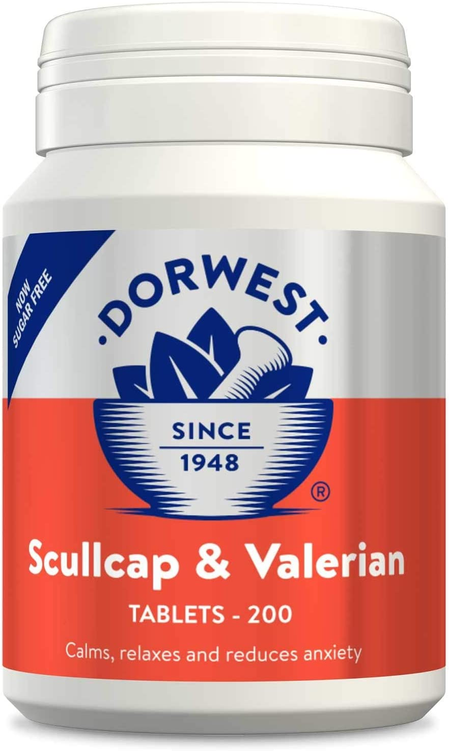Dorwest Oakland Mall Herbs Scullcap and Valerian Dogs 5 ☆ popular 20 Tablets for Cats
