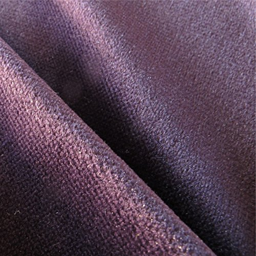 LOOME Oberon 'Tourmaline Plain' : Purple Velvet Upholstery Fabric from Fabrics, per metre
