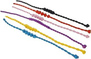 Vifaleno Mode Armband Schnur, Nylonschnur, 8mm, 6 Stück/Packung