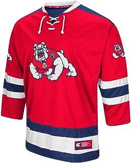 Colosseum Mens Fresno State Bulldogs Hockey Sweater Jersey