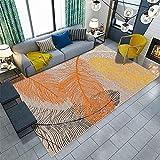 La Alfombra Adornos habitacion Juvenil Amarillo, Negro, Blanco, Graffiti, patrón de Plumas, Sala de Estar, Alfombra Grande alfombras Decoracion Entrada recibidor alfombras de Pasillo 120*170cm
