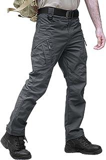 TACVASEN Militair katoen heren outdoor wandelbroek meerdere zakken