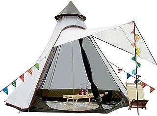 Dpliu Tält, campingtält 5–6 personer 4 säsonger dubbelskikt vattentätt vindtätt tält familj utomhus campingtält 360 x 300 ...