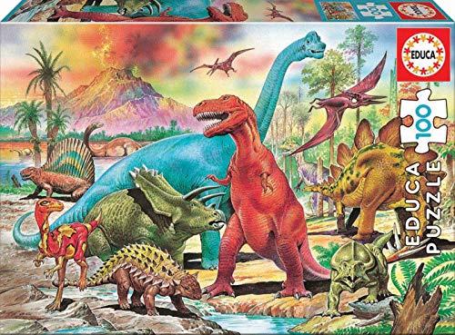 Educa - Dinosaurios, Puzzle infantil de 100 piezas, a partir de 6 años (13179)