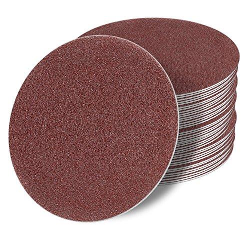 100 Stück 125 mm OHNE LOCH Exzenter Schleifscheiben P80 Körnung, red Film, Haft Klett Schleifpapier