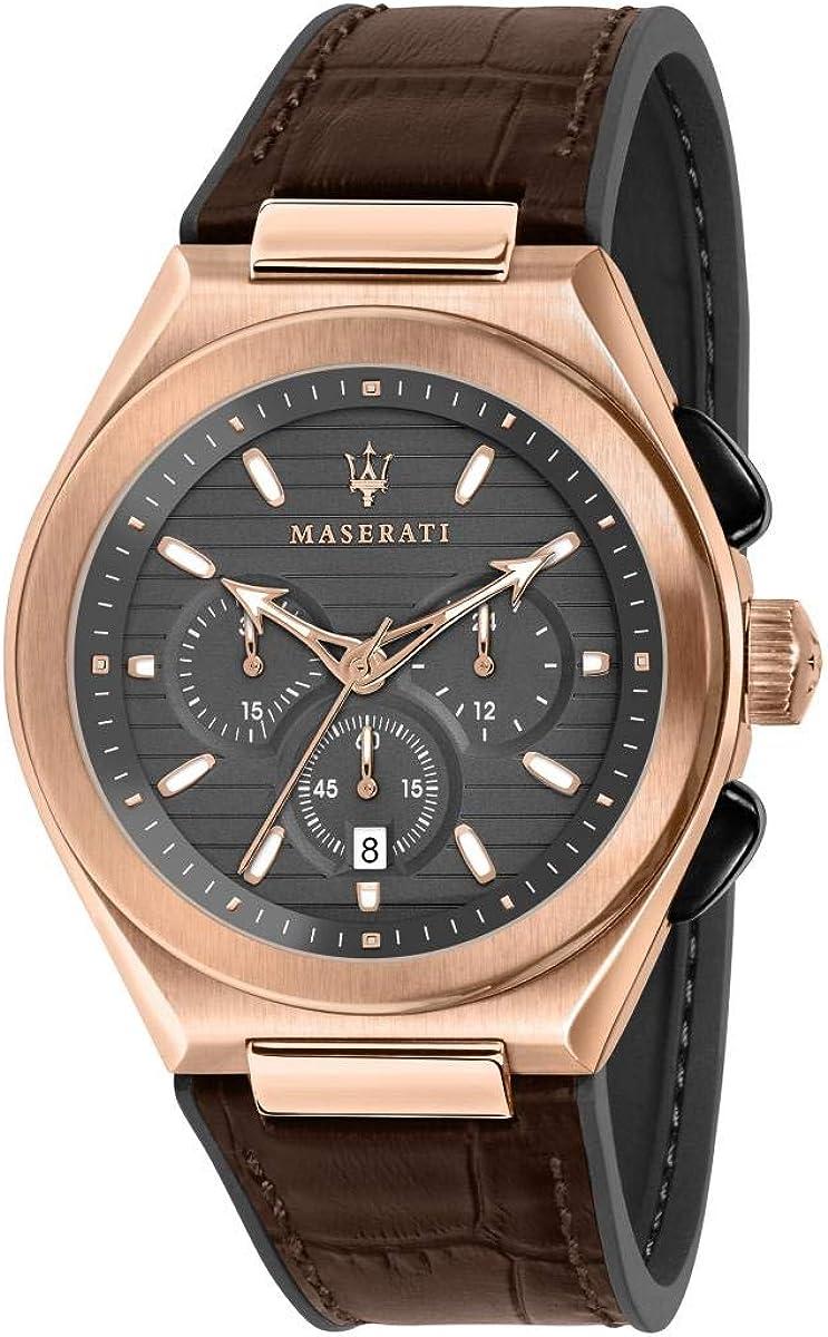Reloj para Hombre, Colección TRICONIC, en Acero, PVD Oro Rosa, Piel - R8871639003