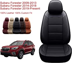 Oasis Auto 2009-2013 Forester Custom Fit Leather Seat Cover Compatible with 2009-201-2011-2012-2013 Subaru Forester (with Cup Holder Full Set)