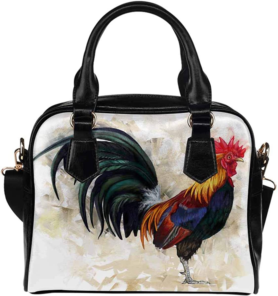InterestPrint Cock Chicken Painting Shoulder Bag Casual Popular brand in the world Women's Ranking TOP1