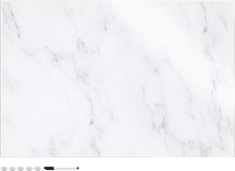 Navaris Dry Erase Glass Board - Decorative 24