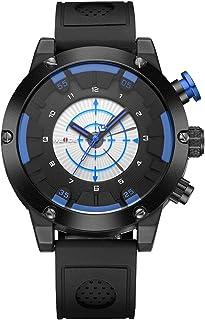 WEIDE WH6301 Two Movement Quartz Digital Men Watch Sports 3ATM Waterproof 50mm Big Dial Large Face Dual Timezone Wristwatc...