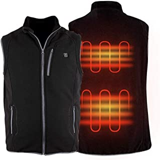 Image of YCKZZR Heated Vest for Women and Men with USB Charging Insert,Electric Body Warmer Wrap Jacket, Hunting Skiing Fishing Camping Hiking Winter Warm Gilet for Indoor Outdoor Activities Use