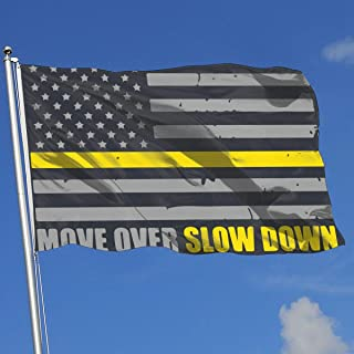 YTGQ4PT Move Over Slow Down Tow Truck Driver Flag Super Polyester Flag 3x5 Ft Banner with Grommets
