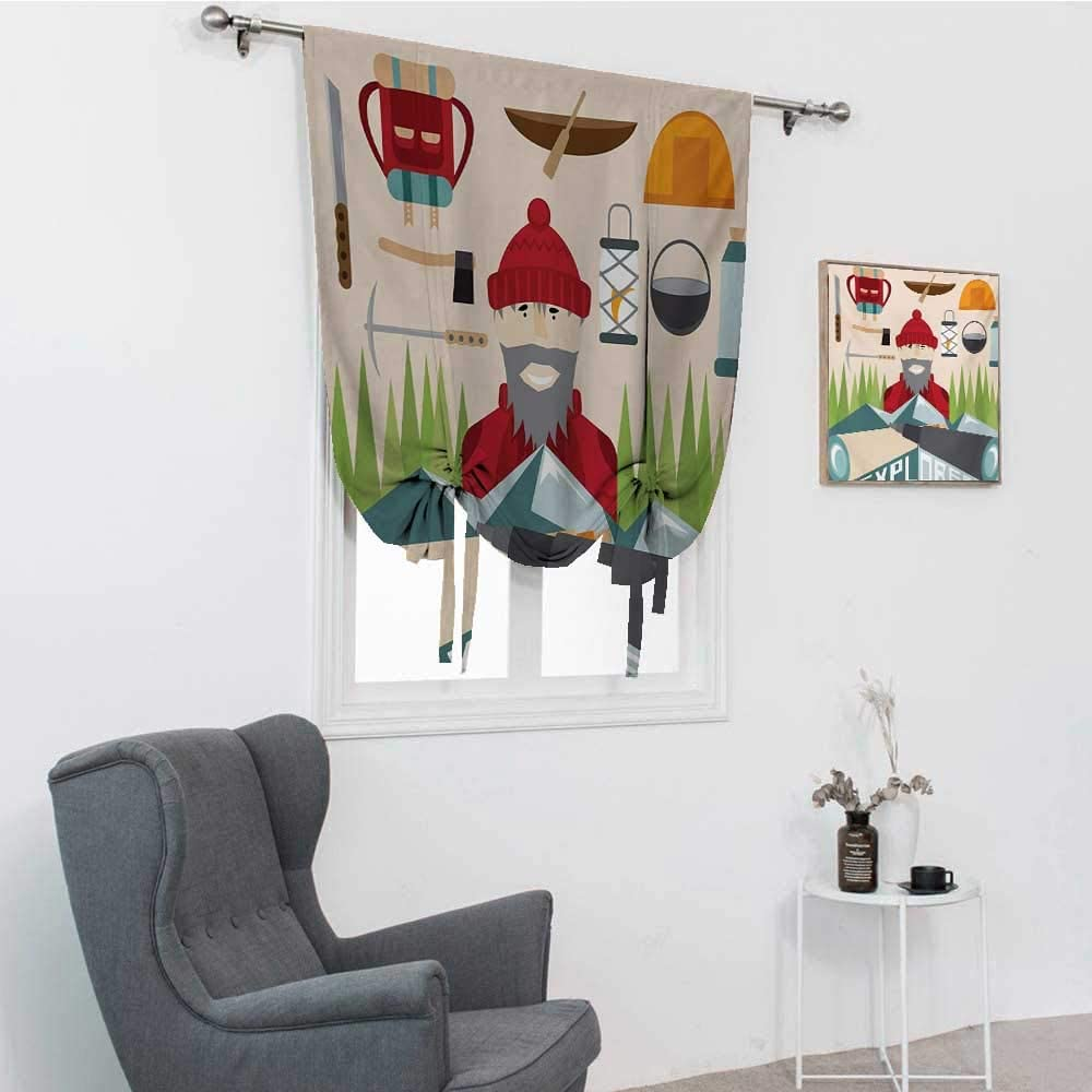 GugeABC Explore Roman Blind, Cartoon Explorer with Hiking and Cl
