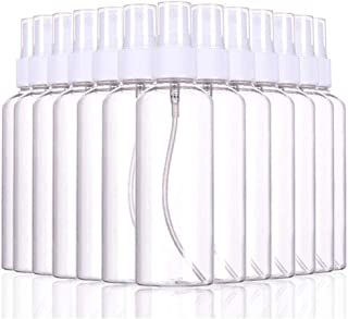 Plastic Clear Spray Bottles 100 Packs, 100ml Refillable Fine Mist Sprayer Bottles Makeup Cosmetic Atomizers Empty Small Spray Bottle Container for Essential Oils, Travel, Perfumes