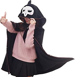 TOMORI Anime Flannel Cloak Reaper Cosplay Costume Cape Hoody Plush Throw Blanket for Nap Quilt