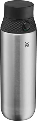 WMF 664516030 Trinkflasche 750ml Stainless Steel Bottle Suitable for Carbonated Drinks, Sports Cap, one-Handed Opening, Leak-Proof, BPA-Free, Cromargan Rust 18/10, Plastic, Silicone (100%