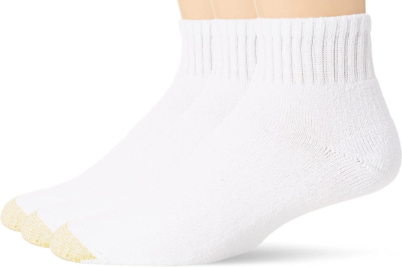 Gold Toe Men's Ultra Tec Performance Quarter Socks, 3-Pairs