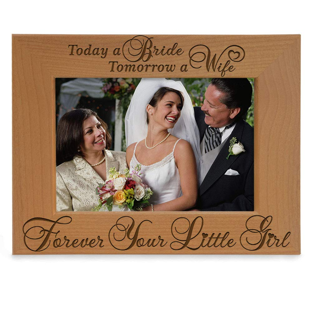 Wedding Today a Bride tomorrow a Wife forever your little girl Personalized Gift father mother parents bride