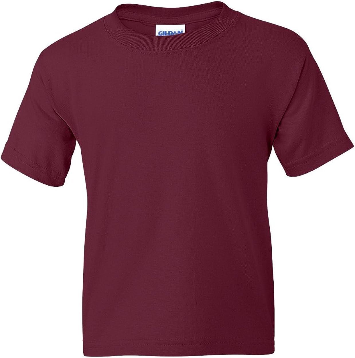5.5 oz, 50/50 T-Shirt (G800B) Maroon, L (Pack of 12)