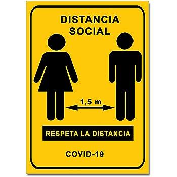 Señalización Coronavirus - Cartel Distancia Social 1,5 m