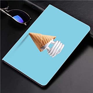 Compatible with 3D Printed iPad Pro 10.5 Case Compact Fluorescent Bulb in ice Cream Cone 360 Degree Swivel Mount Cover for Automatic Sleep Wake up ipad case