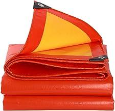Yxsd Dik Dekzeil, Regendicht, Waterdicht en Zonwerend, Geschikt voor het bedekken van vrachtwagens, Schepen 6x10m Oranje+geel
