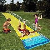 Dygzh 17 Ft Wasserrutsche Rutschmatte Wasserrutschbahn Rutsche Wassermatte Wasser Spielzeug Outdoor...