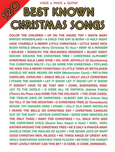 Price comparison product image 120 Best Known Christmas Songs: Piano / Vocal / Guitar