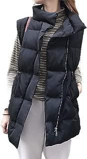 Howely Women Padded Puffer Coat Winter Coat Sleeveless Vest Jacket