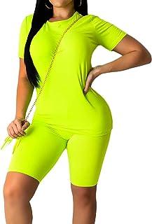 Women Tracksuit Sports Suit Crop Top Pants Outfit Yoga Workout High Waist Tight 2Pcs Outfit Set