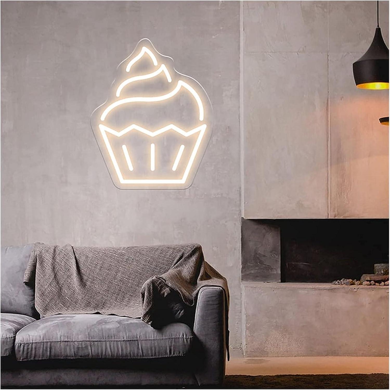 Ice Cream Sales Logo Neon Sign Flex Max 49% OFF Decor for Planet Acrylic Wall Home