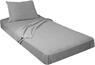 Cot Sheet and Pillowcase 400 Thread Count 100% Cotton Cot Sheet Set (32