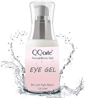 Eye Gel, QQcute Day & Night Anti-Aging Eye Treatment Cream for Wrinkle, Dark Circle, Fine Line, Puffy Eyes, Bags Best Hydrogel Eye Moisturizer for Women - 1.7 oz