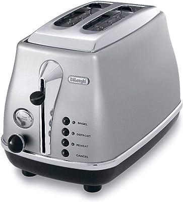 De'Longhi Icona Classic 2 Slice Toaster, Silver, CTO2003S