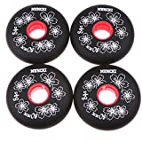 Toygogo 4pcs Inline Skate Wheels Ball Bearings Wheel Bearings Spare Wheels 84A Wheels - Black, 80mm