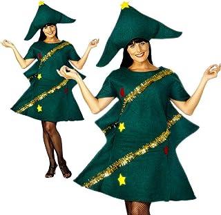 c731ed2ac1 Costume da albero di Natale da donna, adulto albero di Natale costume  travestimento da bambini