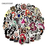Tattoo Girl Sticker PVC Waterproof Fashionable Styling Sexy Beauty Girl For Laptop Luggage Guitar Decal Toy Sticker50pcs/set