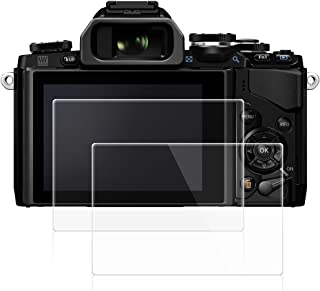 AFUNTA Screen Protectors Compatible Olympus OM-D E-M10 Mark III II E-M5 Mark II Pen-F E-P5 E-PL8 E-PL7 E-PL9, 2 Pack Anti-Scratch Tempered Glass Protective Cover Films for DSLR Digital Camera