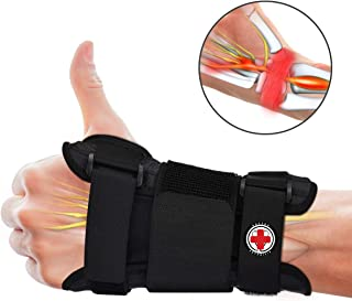 Wrist Splints for Carpal Tunnel Syndrome, Wrist Brace Night for Sprains,Tendonitis, Arthritis with Pain Relief - Comfortable Adjustable Compression Ergonomic Sleep Wrist Support for Left Right Hand